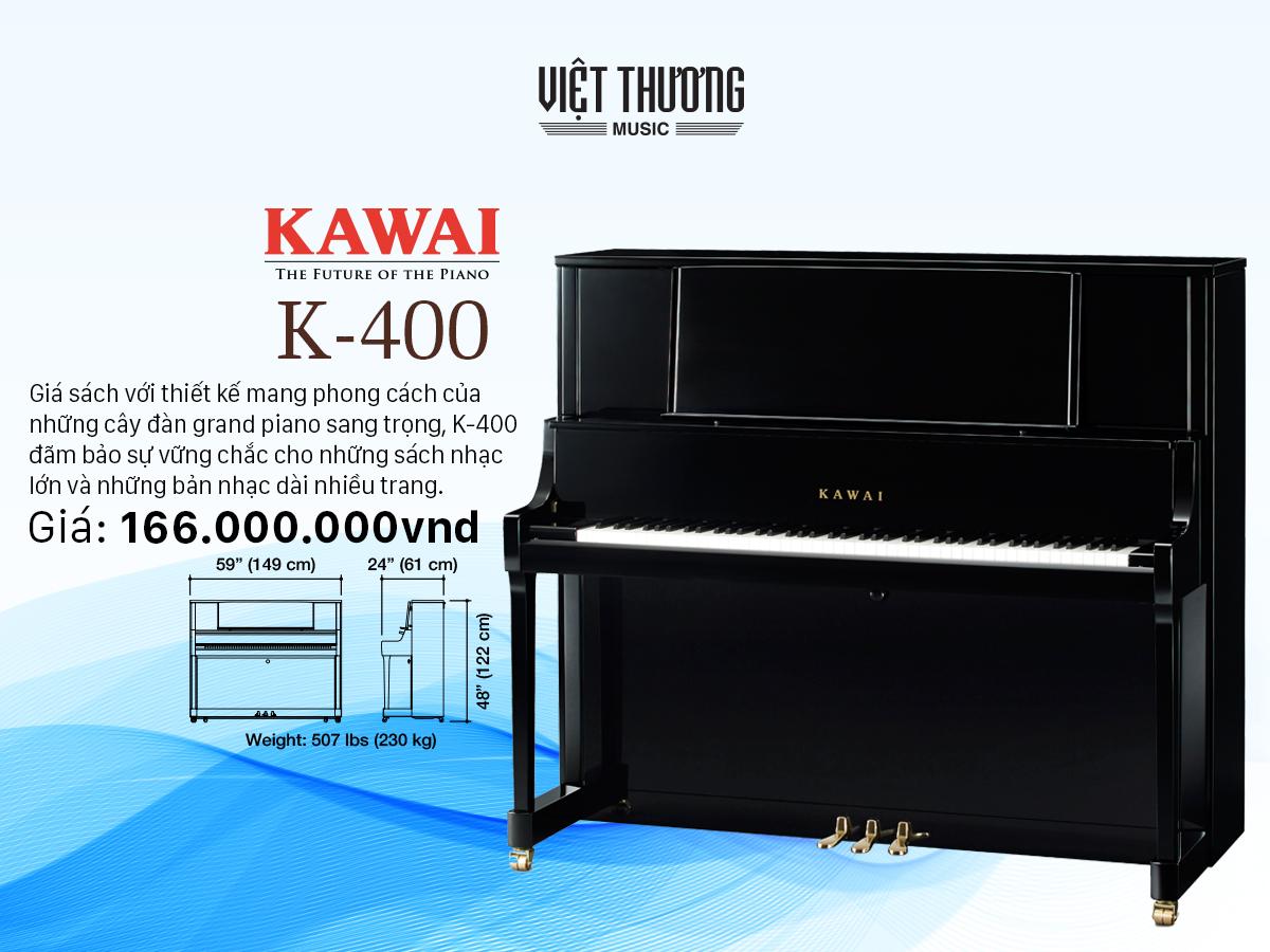 đàn piano kawai k400