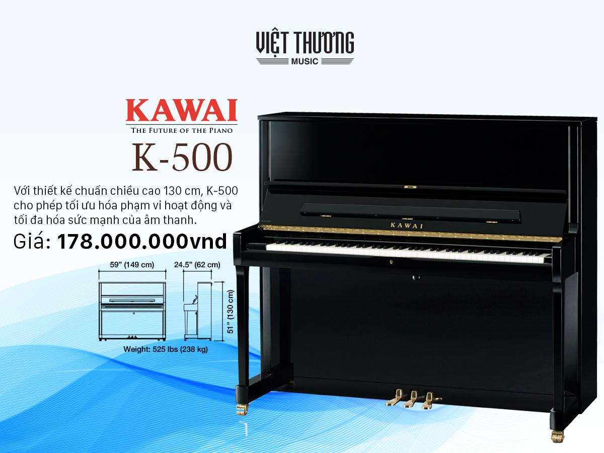 đàn piano kawai k 500