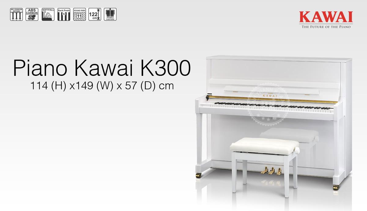 Piano Kawai K300 – Ngôi vương của piano Upright thế giới
