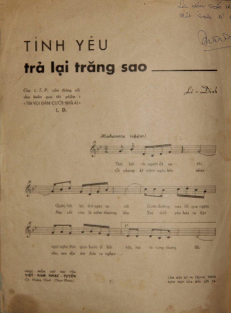 Sheet nhạc bài hát tình yêu trả lại trăng sao 1