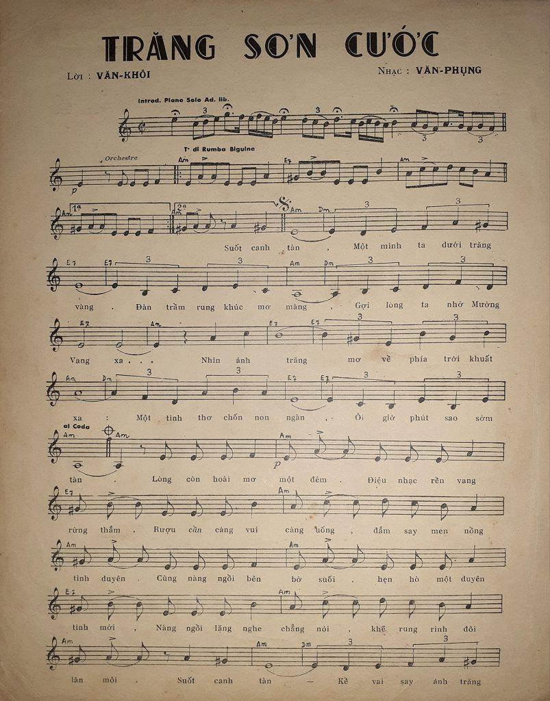 Sheet nhạc bài hát trăng sơn cước 1