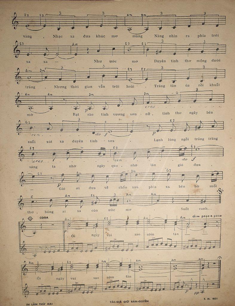 Sheet nhạc bài hát trăng sơn cước 2