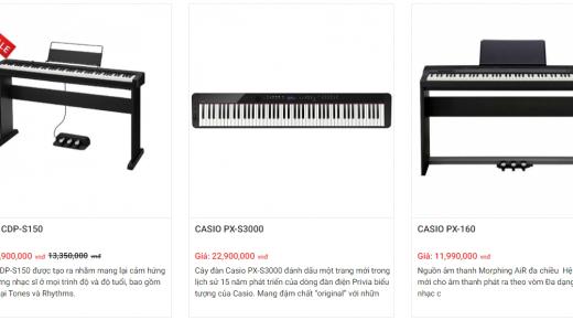 đàn piano casio